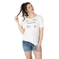 Κοντομάνικη μπλούζα εγκυμοσύνης με τυπωμένες φράσεις