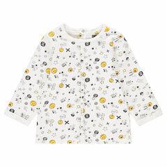 Μακρυμάνικη μπλούζα από ζέρσεϊ με εμπριμέ μοτίβο ©Smiley