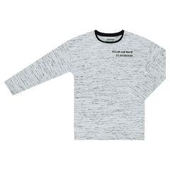 Παιδικά - Μακρυμάνικη μπλούζα με τυπωμένα γράμματα