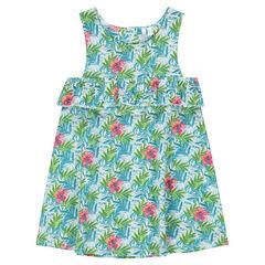 Αμάνικο φόρεμα με βολάν και άνοιγμα στην πλάτη