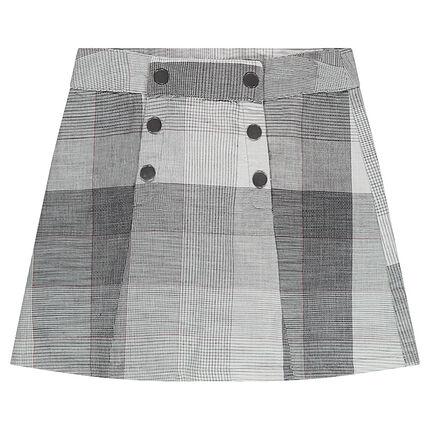 Καρό φούστα με διπλό άνοιγμα με σούστες