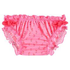 Μαγιό-βρακάκι με ροζ φλαμίγκο σε όλη την επιφάνεια