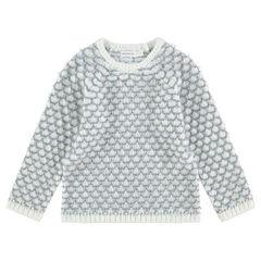 Πλεκτό πουλόβερ με πλέξη κουκουτσάκι και μανίκια ρεγκλάν