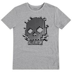 Παιδικά - Κοντομάνικη μπλούζα με τύπωμα νεκροκεφαλή