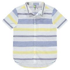 Παιδικά - Κοντομάνικο πουκάμισο με χρωματιστές ρίγες