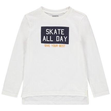 Μακρυμάνικη μπλούζα με τυπωμένο μήνυμα