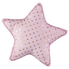 Διακοσμητικό μαξιλαράκι σε σχήμα αστεριού με χρυσαφί πουά