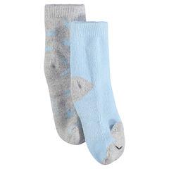 Lot de 2 paires de chaussettes à motif all-over/motif souris