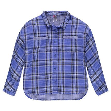 Παιδικά - Καρό βαμβακερό πουκάμισο