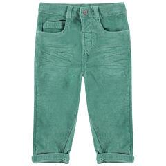 Παντελόνι από βελούδο κοτλέ με τσέπες