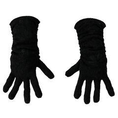 Gants noirs en tricot