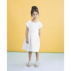 Κοντομάνικο φόρεμα για ειδικές περιστάσεις με στρογγυλό γιακαδάκι και μοτίβα σε ζακάρ