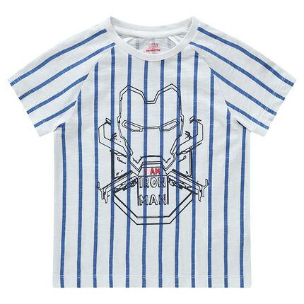 Κοντομάνικη ριγέ μπλούζα με τύπωμα Iron Man της ©Marvel