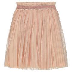 Πλισέ φούστα από τούλι με γυαλιστερό λάστιχο