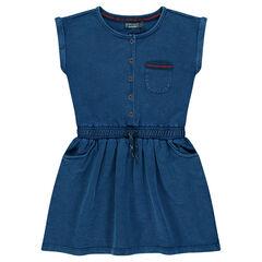 Παιδικά - Κοντομάνικο φόρεμα από slub φανέλα