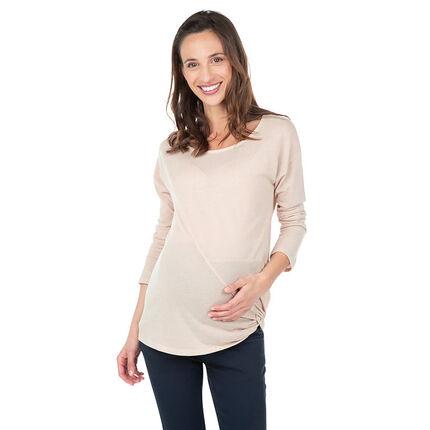 Τουνίκ εγκυμοσύνης με ραφή και δέσιμο στο πλάι