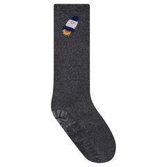 Ψηλές κάλτσες αντιολισθητικές με πύραυλο σε ζακάρ