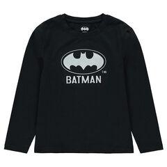 Παιδικά - Μακρυμάνικη ζέρσεϊ μπλούζα με τυπωμένο λογότυπο ©Batman