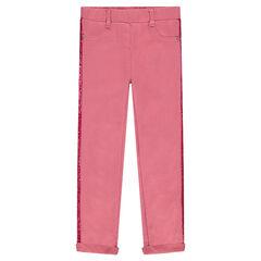 Εφαρμοστό παντελόνι-κολάν με λωρίδα από παγιέτες