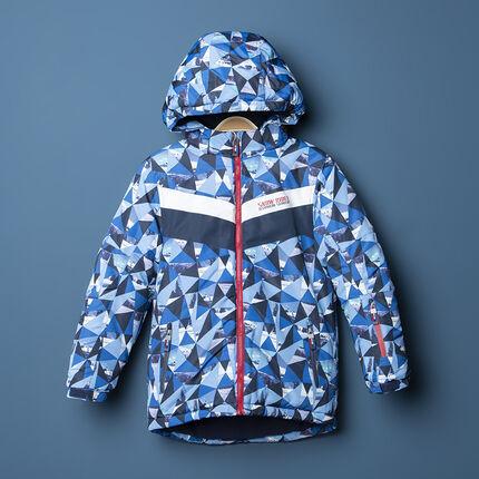 Παιδικά - Αδιάβροχο μπουφάν του σκι με γεωμετρικό μοτίβο