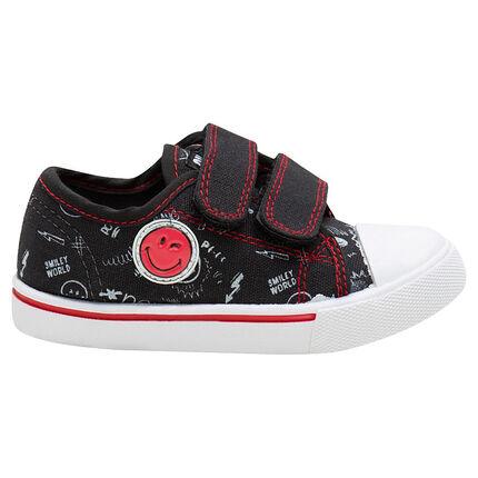 Χαμηλά πάνινα αθλητικά παπούτσια με σήμα ©Smiley