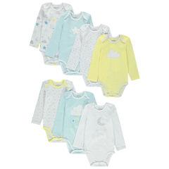Σετ 7 bodies μακρυμάνικα σε  διάφορα χρώματα και σχέδια