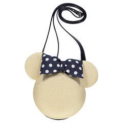 Τσάντα ώμου με όψη ψάθας σε σχήμα Μίνι της ©Disney