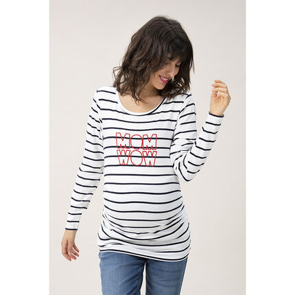 Μακρυμάνικη μπλούζα εγκυμοσύνης με μήνυμα από πούλιες