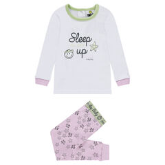 Pyjama en jersey avec print ©Smiley et pantalon imprimé all-over
