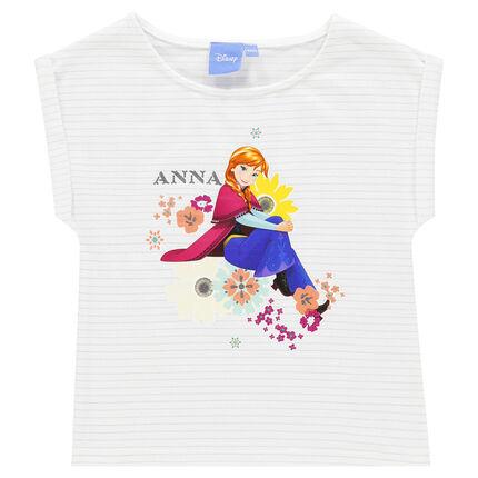 Κοντομάνικη μπλούζα ριγέ με σχέδιο Ψυχρά κι Ανάποδα της Disney