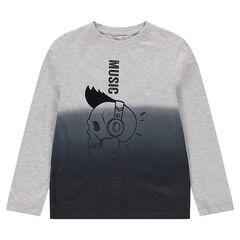 Παιδικά - Μακρυμάνικη μπλούζα από ζέρσεϊ με εφέ tie and dye.