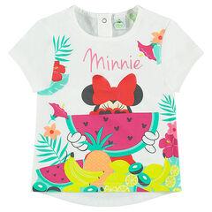 Tee-shirt manches courtes print tropical Disney Minnie
