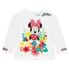 Μακρυμάνικη μπλούζα Disney με στάμπα Μίνι και λουλούδια