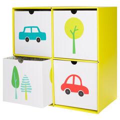 Κουτί αποθήκευσης από χαρτόνι με 4 συρτάρια