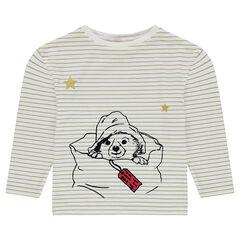 Μακρυμάνικη μπλούζα ριγέ με αστεράκια με παγιέτες ©Paddington