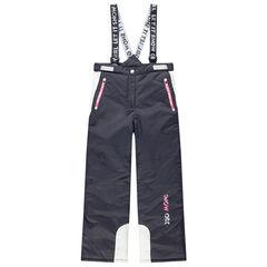 Παιδικά - Αδιάβροχο παντελόνι του σκι με αφαιρούμενες τιράντες και τσέπες με φερμουάρ