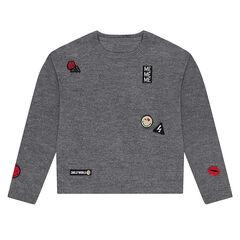 Παιδικά - Πλεκτό πουλόβερ με σήματα ©Smiley
