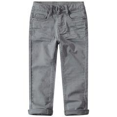 Βαμβακερό παντελόνι νηματοβαφή με φαντεζί τσέπη πίσω