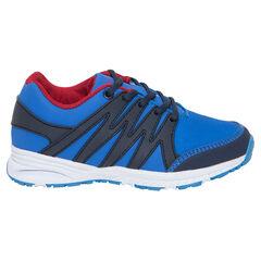 Αθλητικά παπούτσια από δύο υλικά με κορδόνια