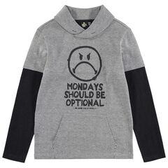 Παιδικά - Μακρυμάνικη μπλούζα 2 σε 1 με στάμπα Smiley