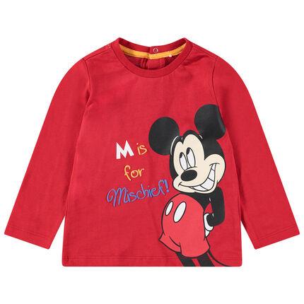 Μακρυμάνικη μπλούζα από ζέρσεϊ με στάμπα Μίκυ της Disney μπροστά