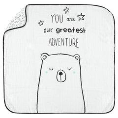 Κουβέρτα σε γάζα με  σχέδιο αρκούδα και μήνυμα