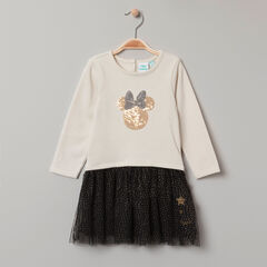 Μακρυμάνικο φόρεμα 2 σε 1 Minnie Disney με πούλιες , Orchestra