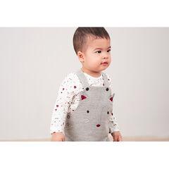 Σύνολο σαλοπέτα με μοτίβο ψαροκόκκαλο και μακρυμάνικη εμπριμέ μπλούζα