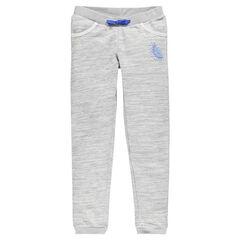 Παιδικά - Γκρι μελανζέ παντελόνι από φανέλα