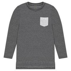 Παιδικά - Μακρυμάνικη μπλούζα σε μακριά γραμμή, με τσέπη