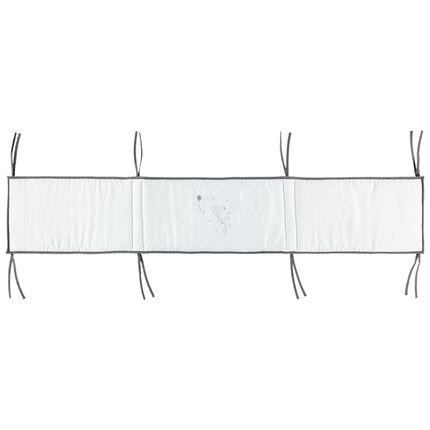 Tour de lit en coton avec nouettes et revers imprimé