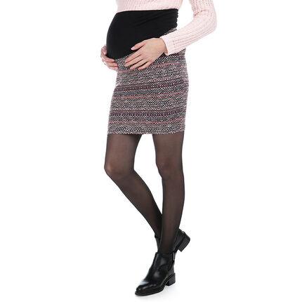 Φούστα εγκυμοσύνης ζακάρ με φαρδιά φάσα ψηλά στη μέση