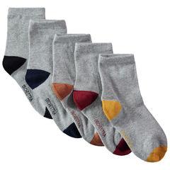 Σετ με 5 ζευγάρια κάλτσες με μύτη και φτέρνα σε αντίθεση