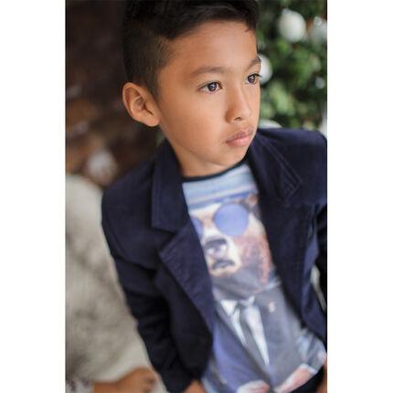 Παιδικά - Μακρυμάνικη μπλούζα με τύπωμα αρκουδάκι